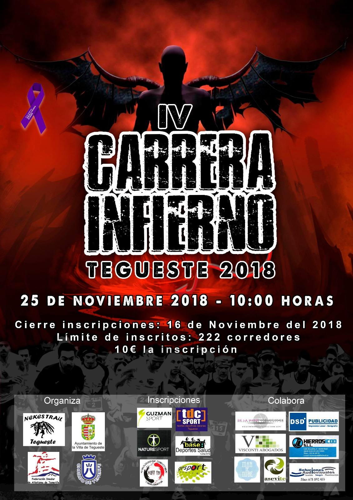 IV CARRERA INFIERNO TEGUESTE - Inscríbete